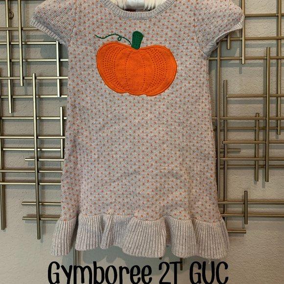 Gymboree 2T-3T Pumpkin Sweater Dress